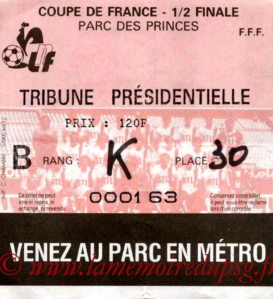 1985-06-04  PSG-Toulouse (Demi-Finale Retour CF, Sans Nom)
