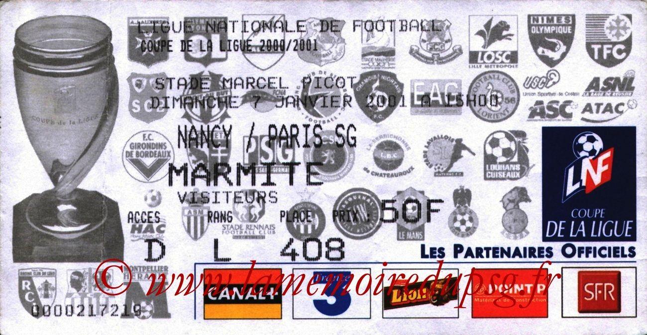 2001-01-07  Nancy-PSG (16ème Finale CL)