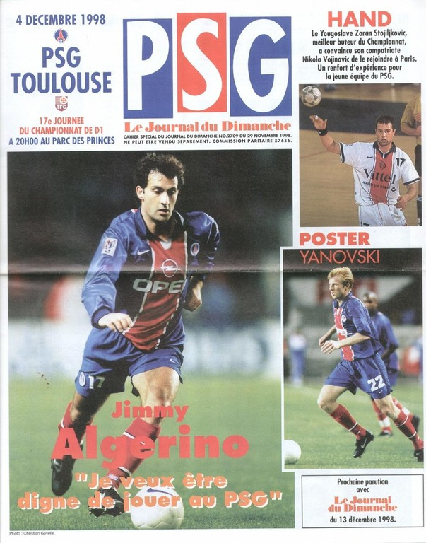 1998-12-04  PSG-Toulouse (17ème D1, Le Journal du PSG N°66)