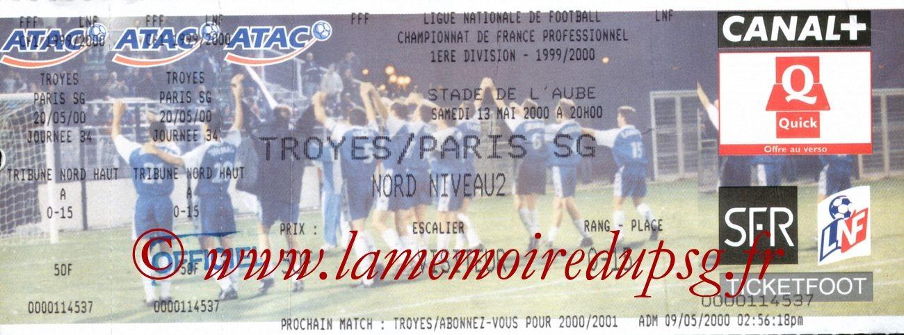 2000-05-13  Troyes-PSG (34èeme D1)