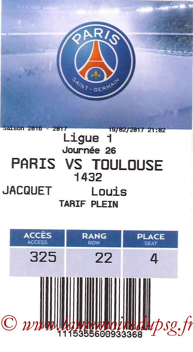 2017-02-19  PSG-Toulouse (26ème L1, E-ticket)