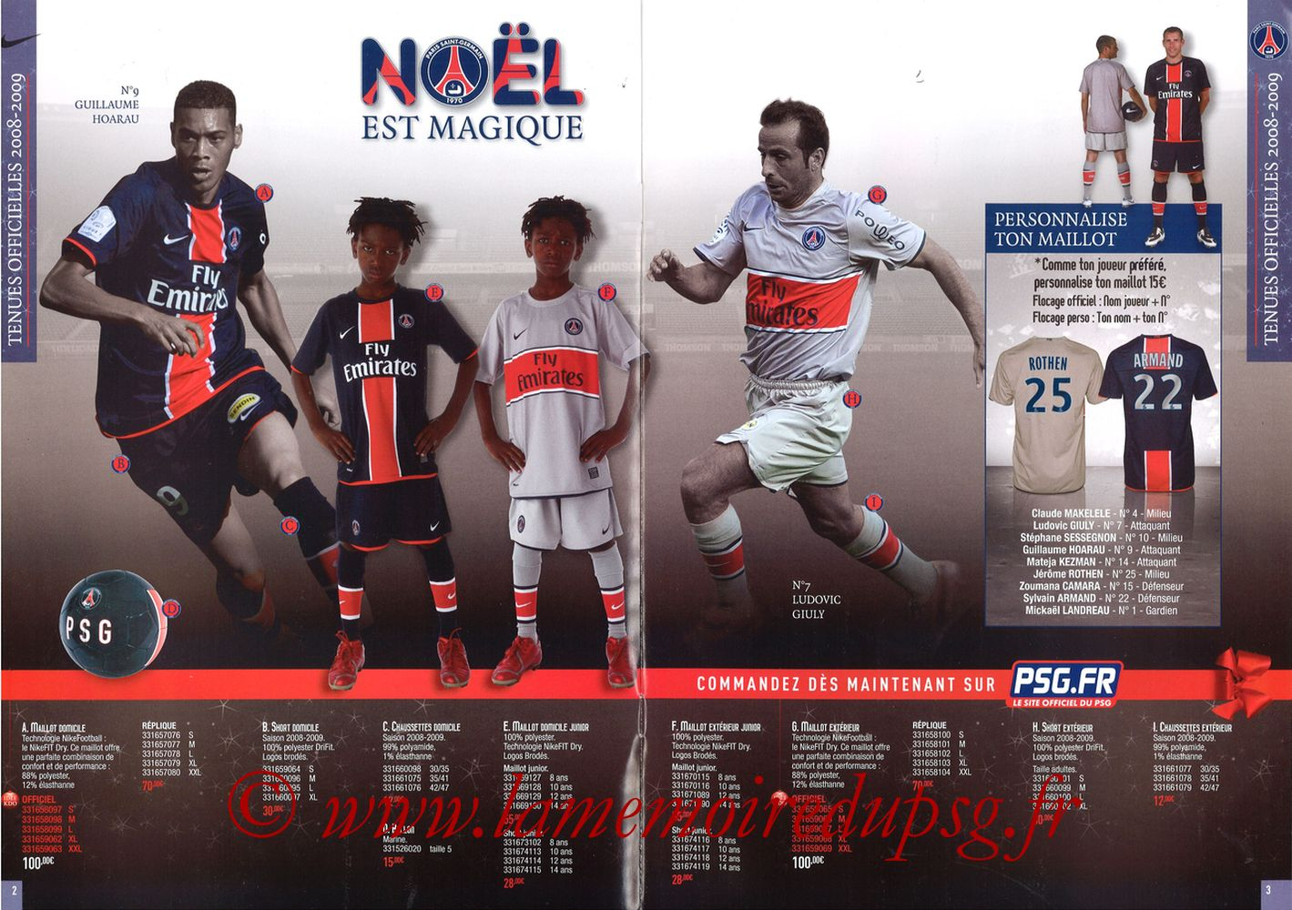 Catalogue PSG - 2008-09 - Noêl - Pages 02 et 03