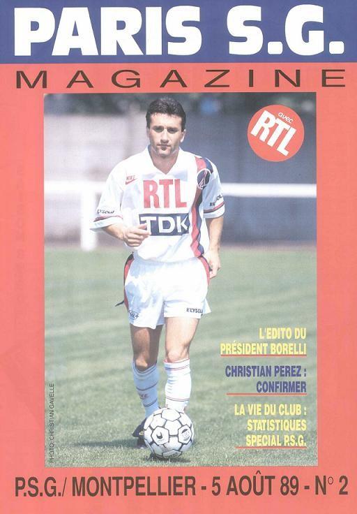1989-08-05  PSG-Montpellier (4ème D1, Paris SG Magazine N°2)