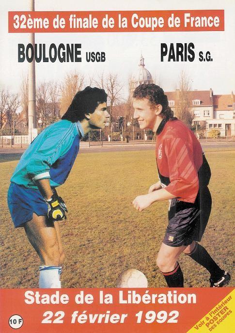 1992-02-22  Boulogne sur Mer-PSG (32ème Finale CF, Officiel)