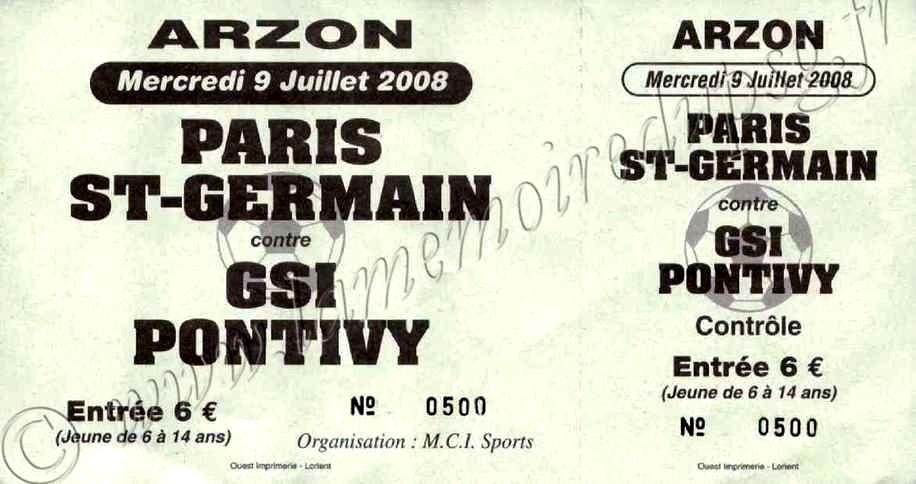 2008-07-09  PSG-Pontivy (Amical à Arzon, Entier)