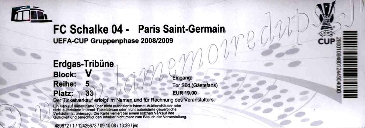 2008-10-23  Schalke 04-PSG (1ère journée Poule UEFA)