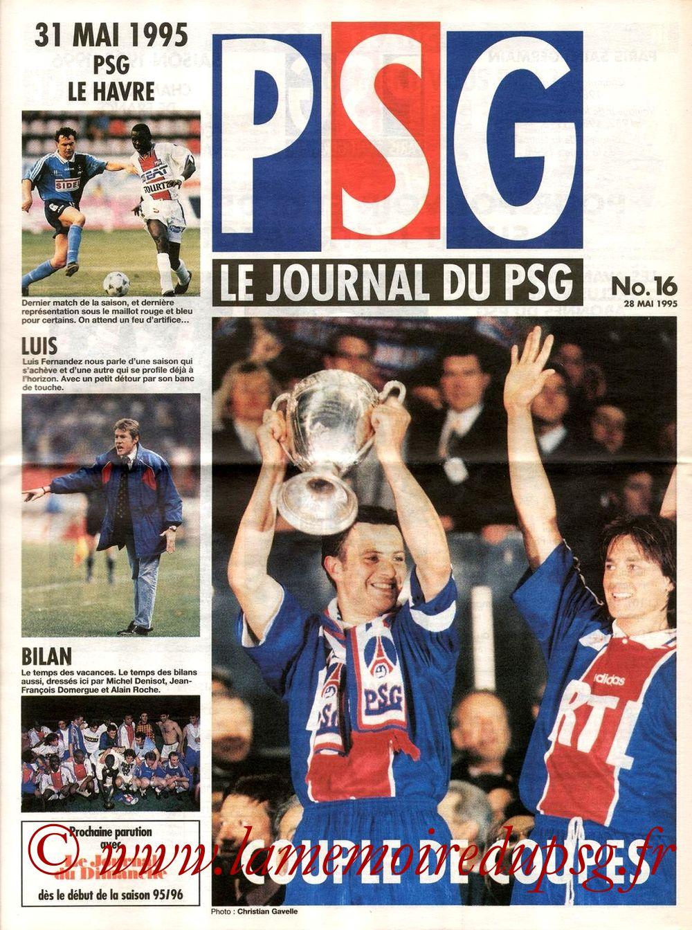 1995-05-31  PSG-Le Havre (38ème D1, Le journal du PSG N°16)