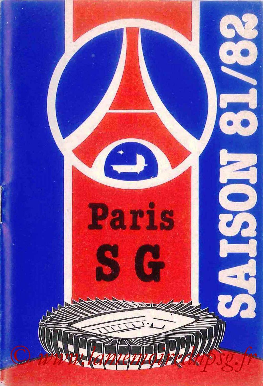 1981-82 - Guide de la Saison PSG - Couverture