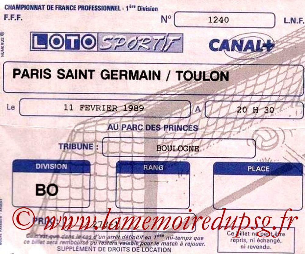 1989-02-11  PSG-Toulon (26ème D1)