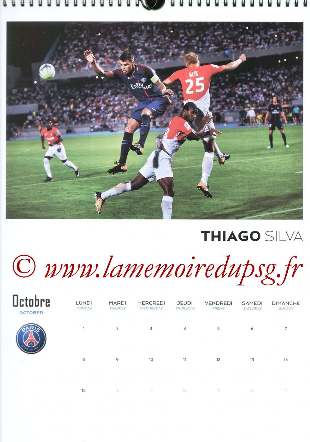 Calendrier PSG 2018 - Page 19 - Thiago SILVA