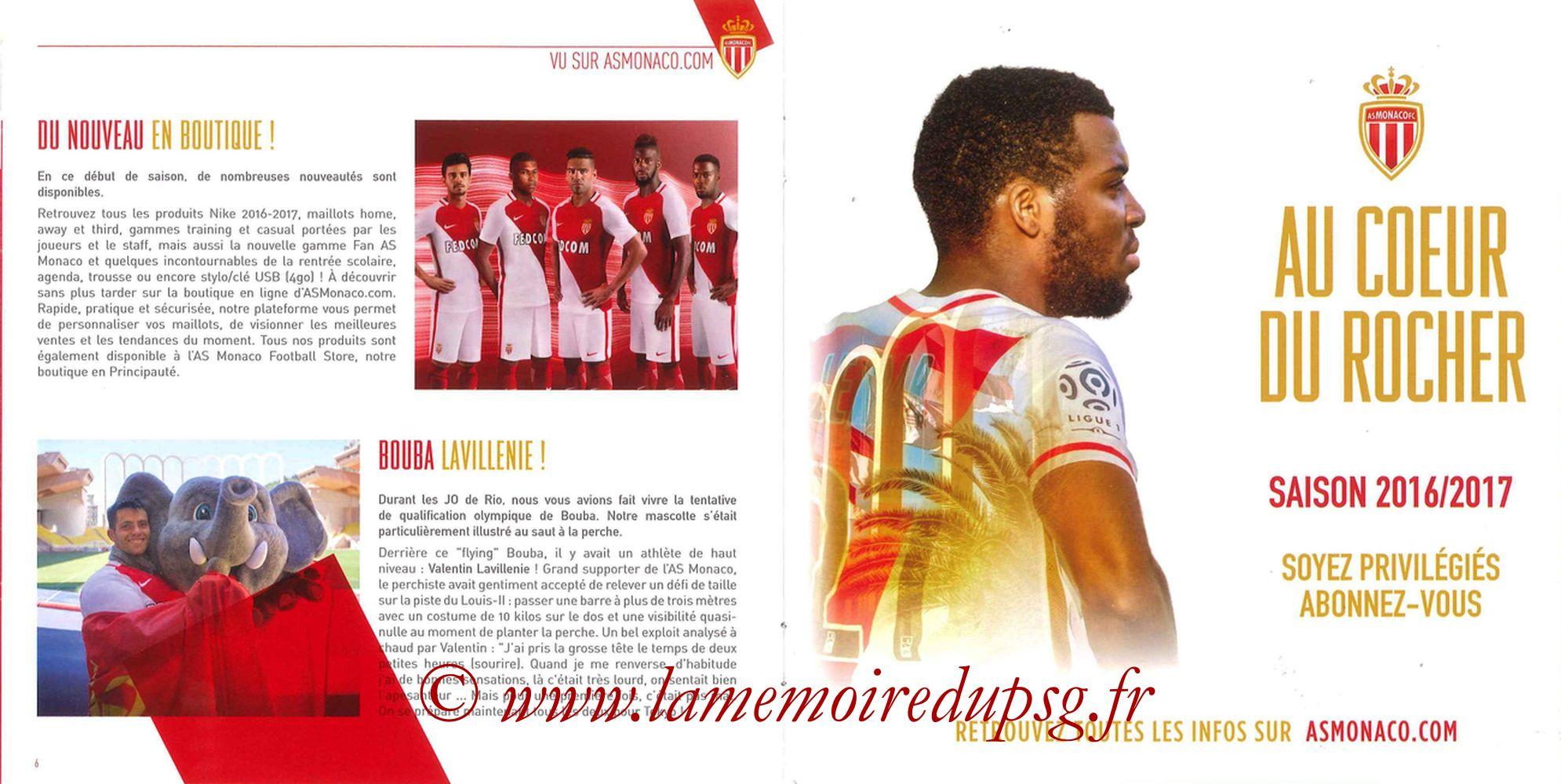 2016-08-28  Monaco-PSG (3ème L1, Programme officiel) - Pages 06 et 07
