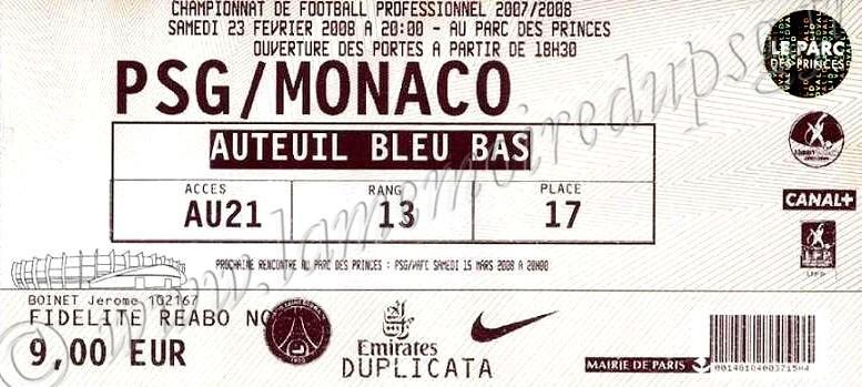 2008-02-23  PSG-Monaco (26ème L1)