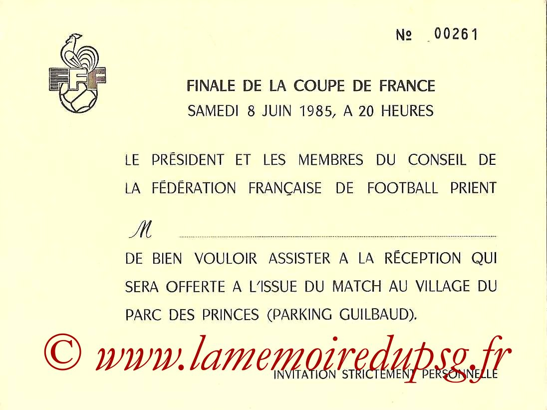 1985-06-08  PSG-Monaco  (Finale CF au Parc des Princes, Invitation)