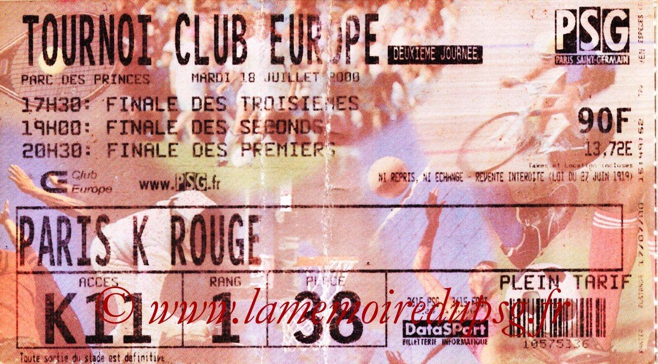 2000-07-18  PSG-Saint Etienne (Tournoi Club Europe au Parc des Princes)