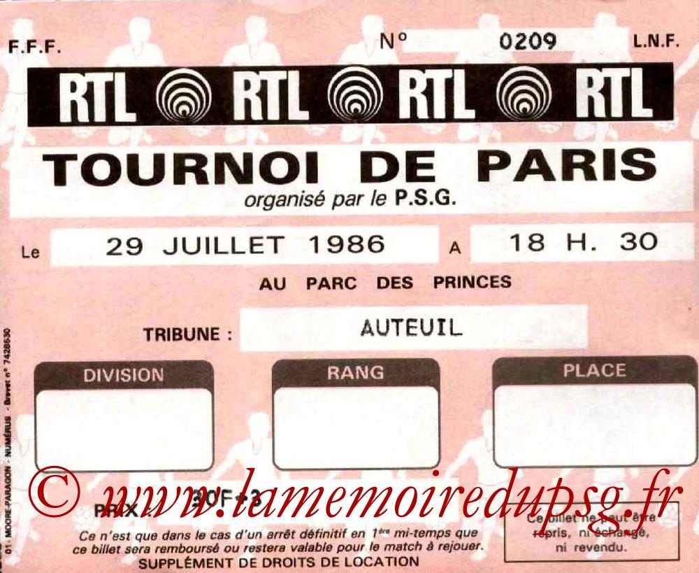 1986-07-29  PSG-Sporting Lisbonne (Finale tournoi de Paris)