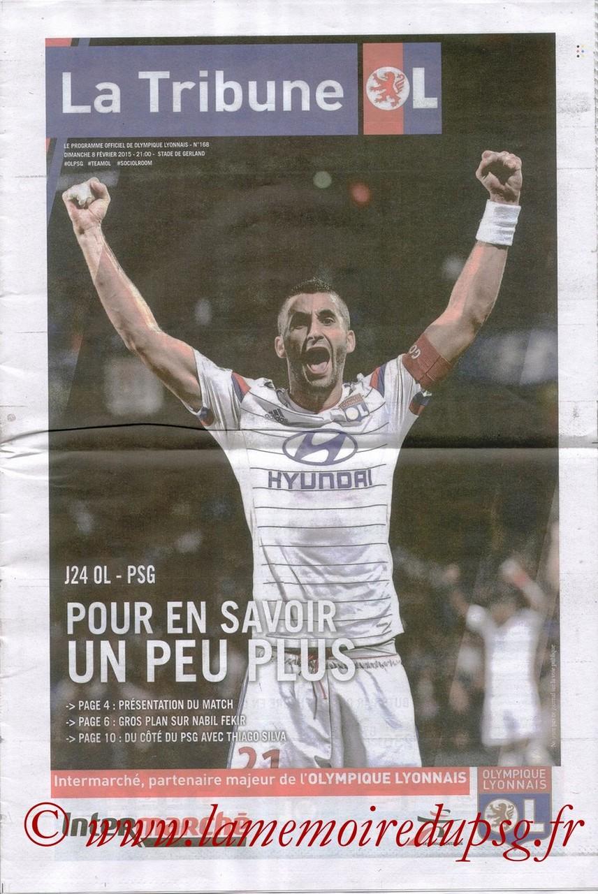 2015-02-08  Lyon-PSG (24ème L1, La tribune OL N° 168)