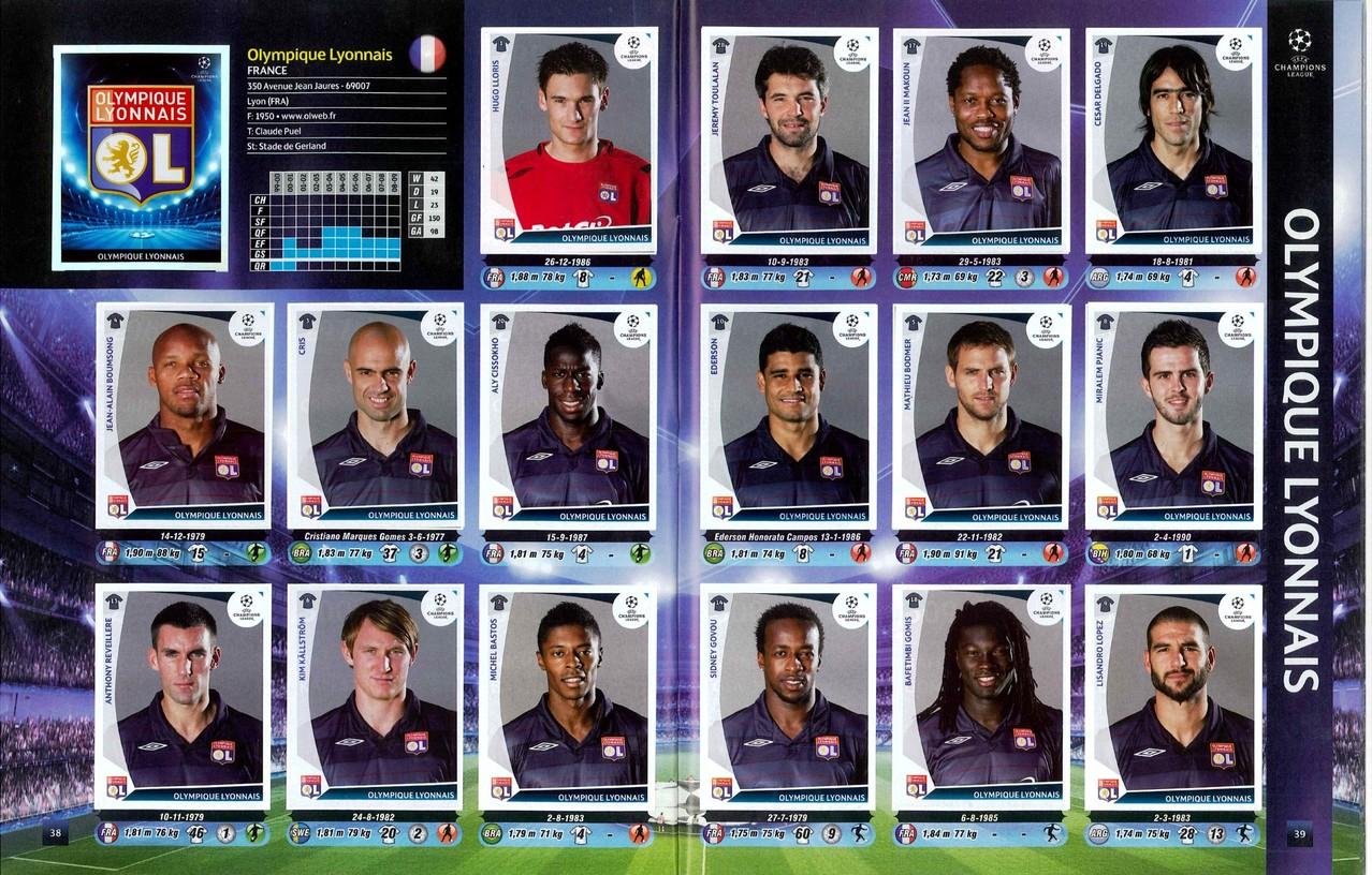 2009-10 - Panini Champions League - Pages 38 et 39 - Olympique Lyonnais