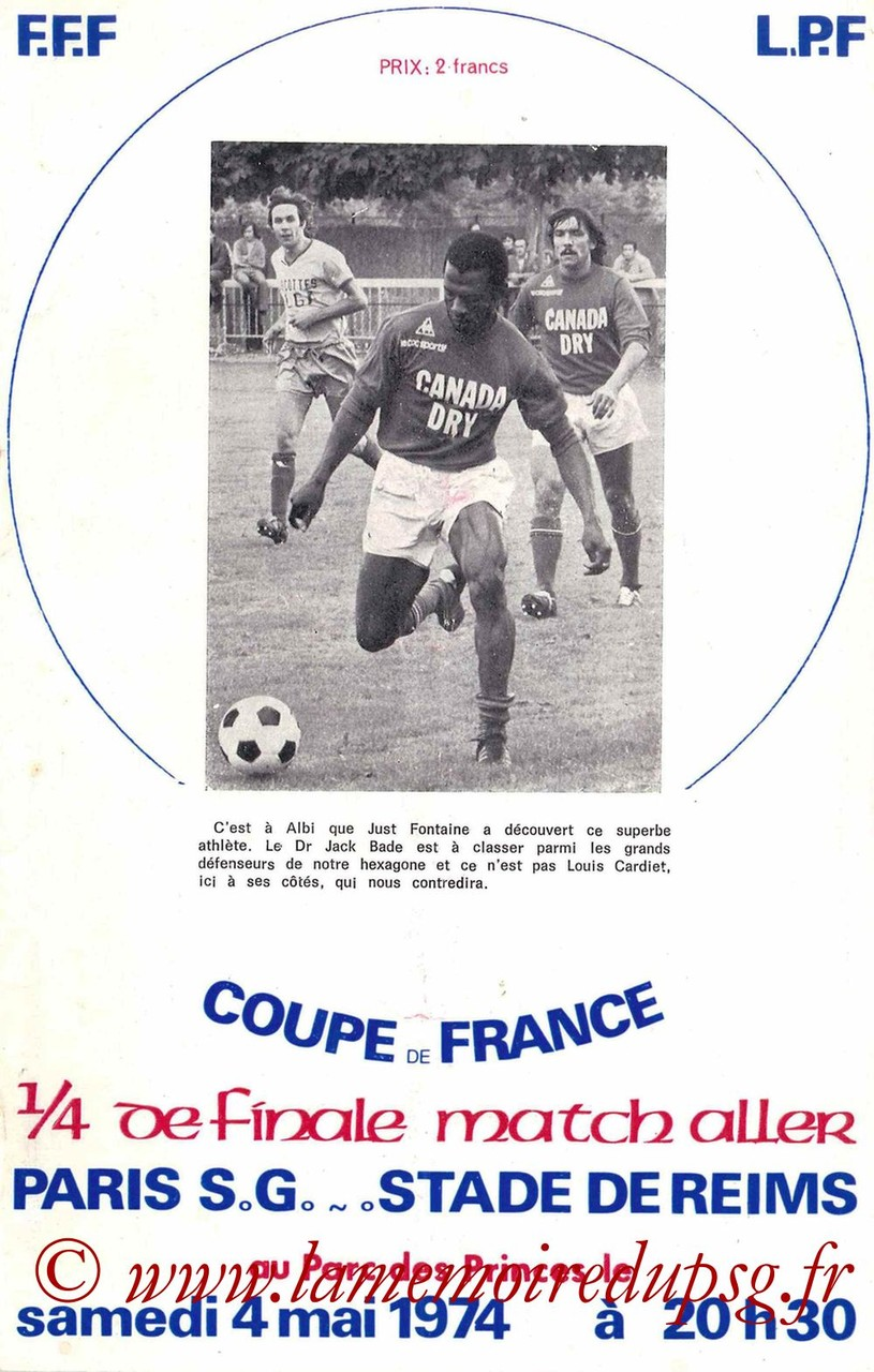1974-05-04  PSG-Reims (Quart Aller CF)