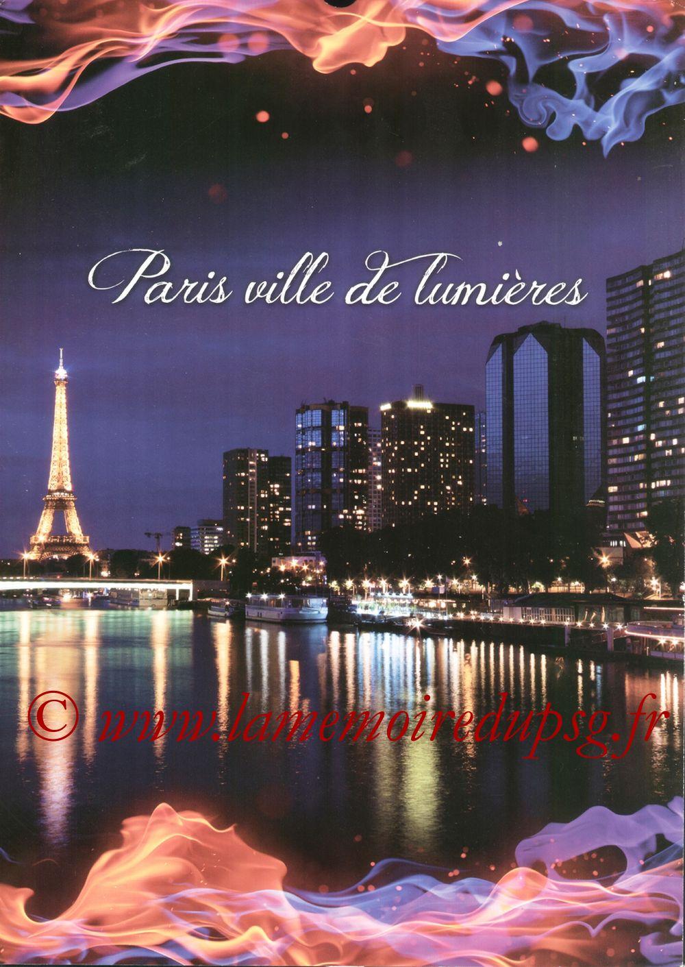 Calendrier PSG 2012bis - Page 00 - Paris ville de lumières