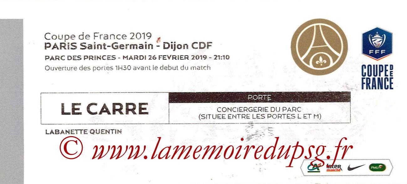 2019-02-26  PSG-Dijon (Quart CF, Le Carré)