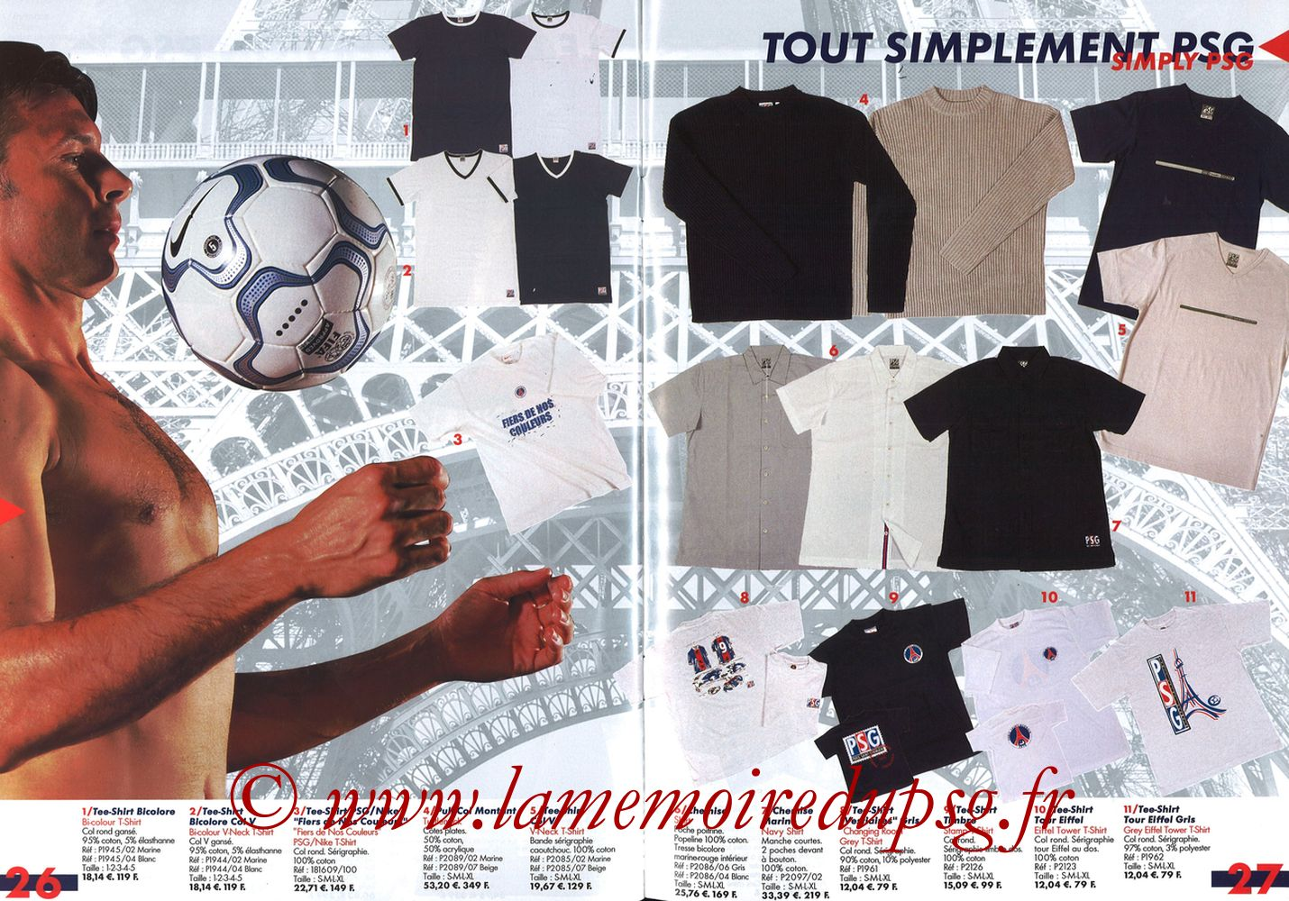 Catalogue PSG - 2001-02 - Pages 26 et 27