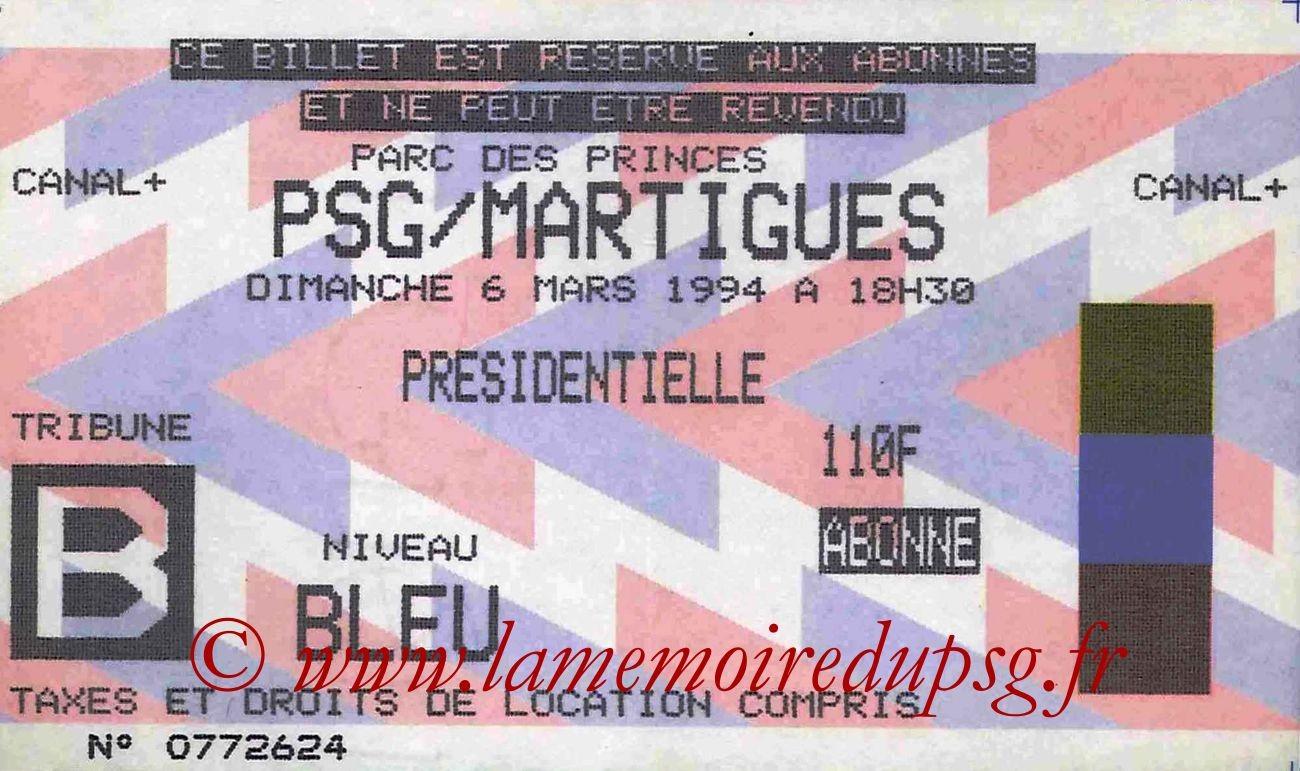 1994-03-06  PSG-Martigues (29ème D1)