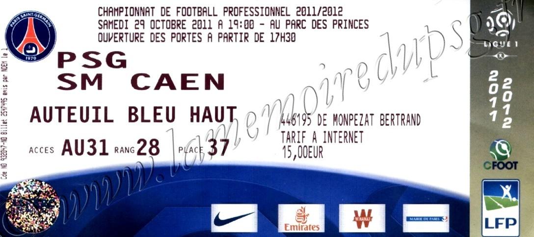 2011-10-29  PSG-Caen (12ème L1)