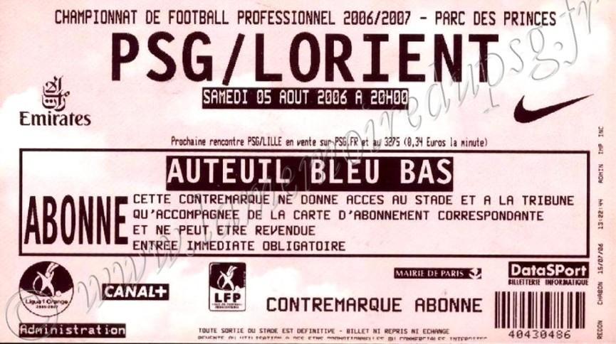 2006-08-05  PSG-Lorient (1ère L1)