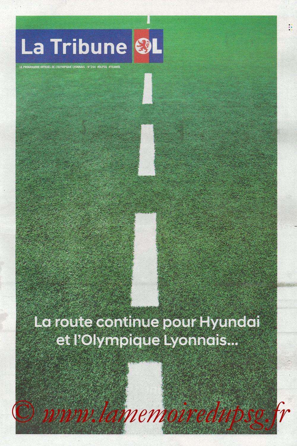 2018-01-21  Lyon-PSG (22ème L1, La Tribune OL N° 244) - Page 02