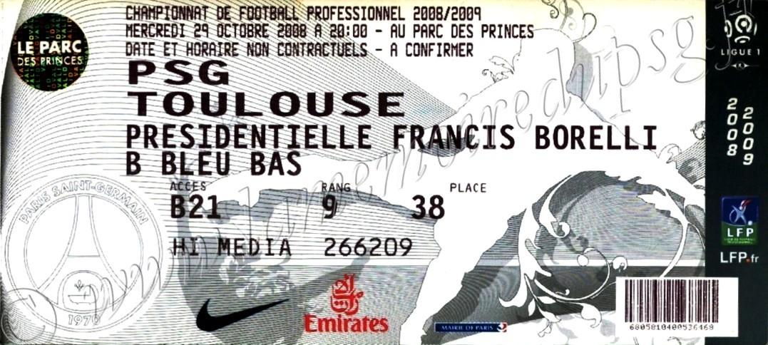 2008-10-29  PSG-Toulouse (11ème L1, bis)