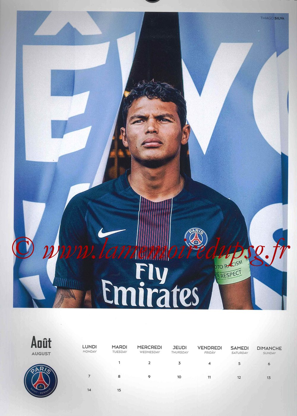 Calendrier PSG 2017 - Page 15 - Thiago SILVA