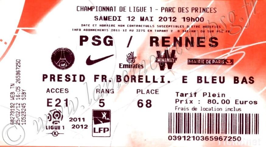 2012-05-13  PSG-Rennes (37ème L1, Ticketnet)