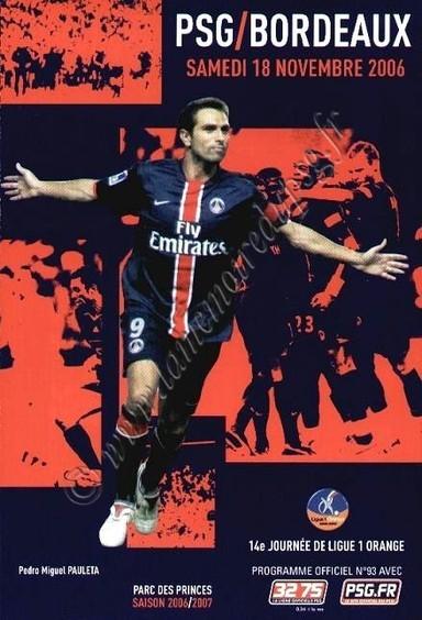 2006-11-18  PSG-Bordeaux (14ème L1, Officiel N°93)