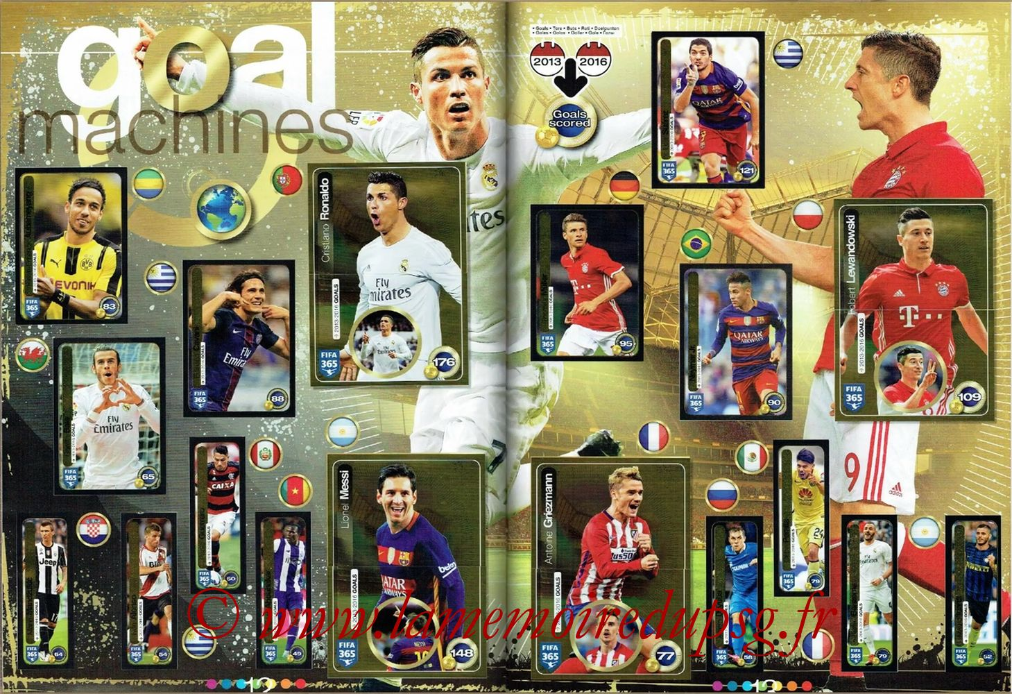 2016-17 - Panini FIFA 365 Stickers - Pages 12 et 13 - Goal Machines