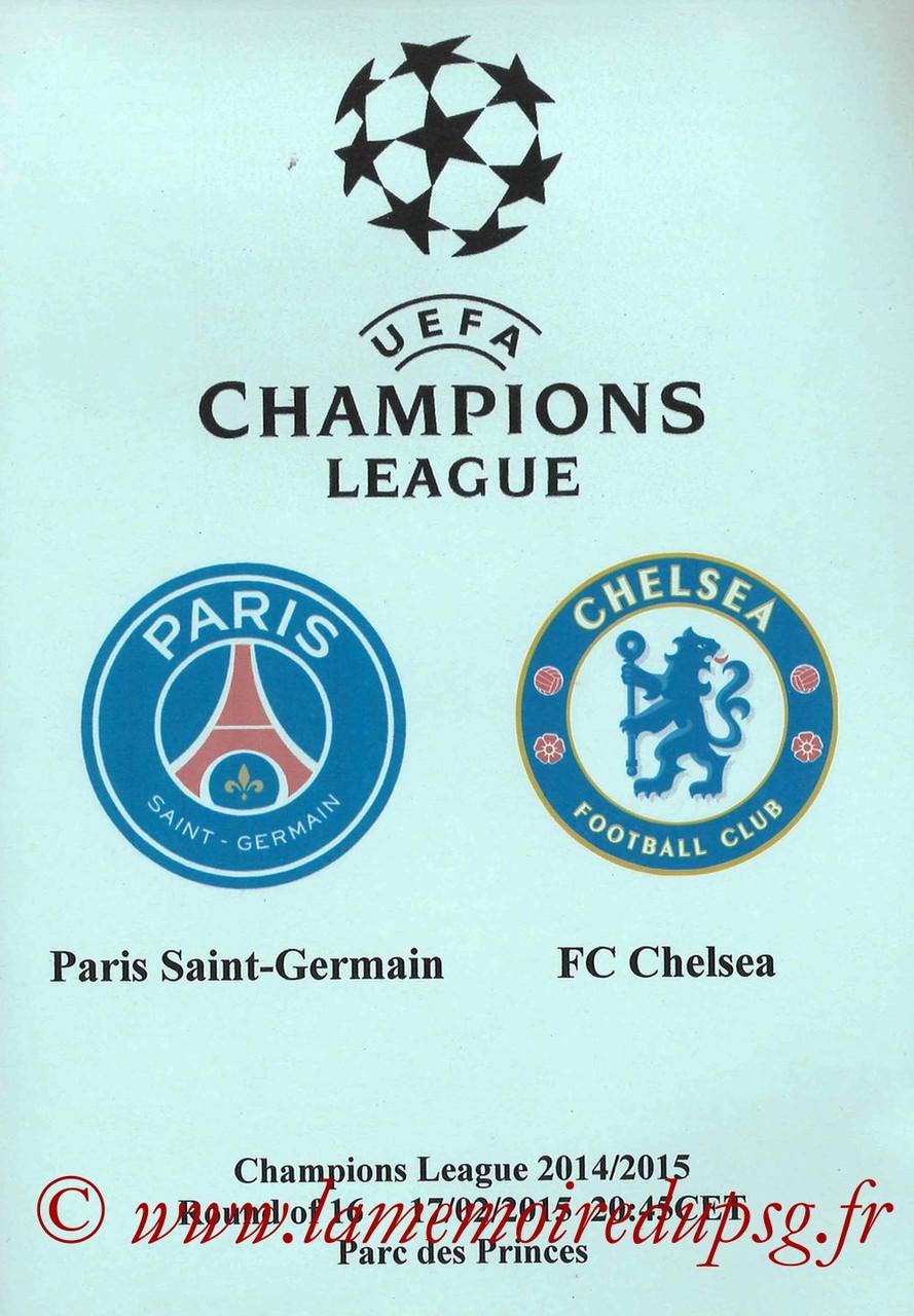 2015-02-17  PSG-Chelsea (8ème aller C1, Programme pirate 5)