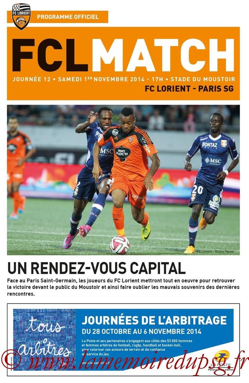 2014-11-01  Lorient-PSG (12ème L1, FCL Match)