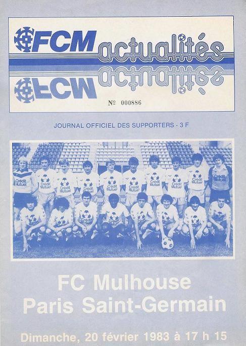 1983-02-20  Mulhouse-PSG (25ème D1, FCM Actualités)