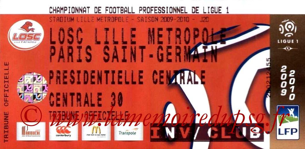2010-01-16  Lille-PSG (20ème L1)