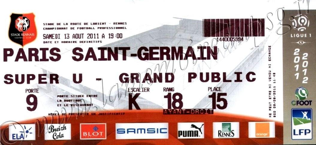2011-08-13  Rennes-PSG (2ème L1)