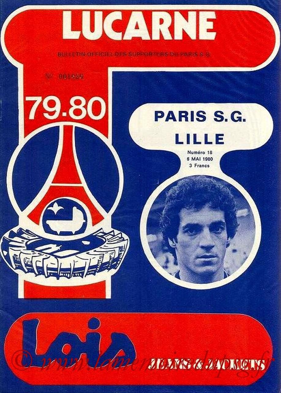1980-05-06  PSG-Lille (36ème D1,Lucarne N°18)