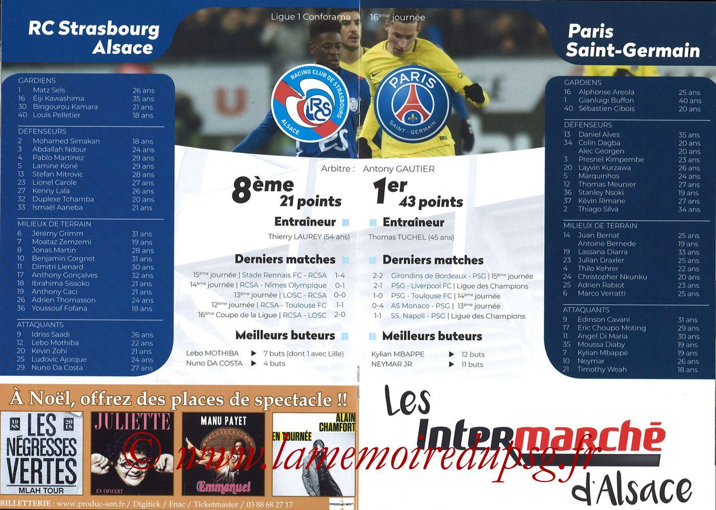 2018-12-05  Strasbourg-PSG (16ème L1, Passion Racing N°7) - Pages 08 et 09