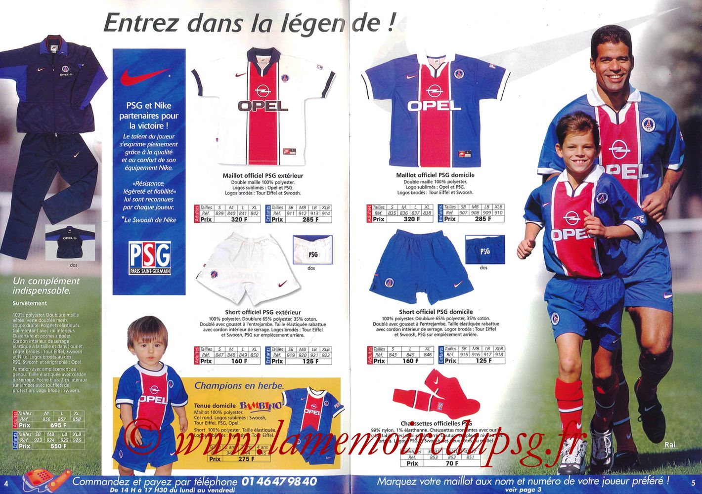 Catalogue PSG - 1997-98 - Pages 04 et 05