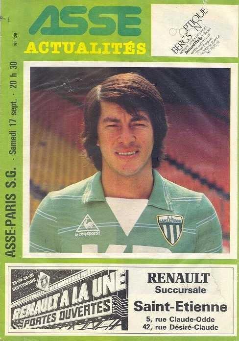 1983-09-17  Saint Etienne-PSG (9ème D1, ASSE Actualités N°128)