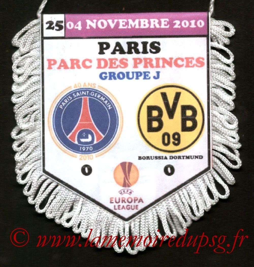 2010-11-04  PSG-Borussia Dortmund (4ème Journée Poule C3)