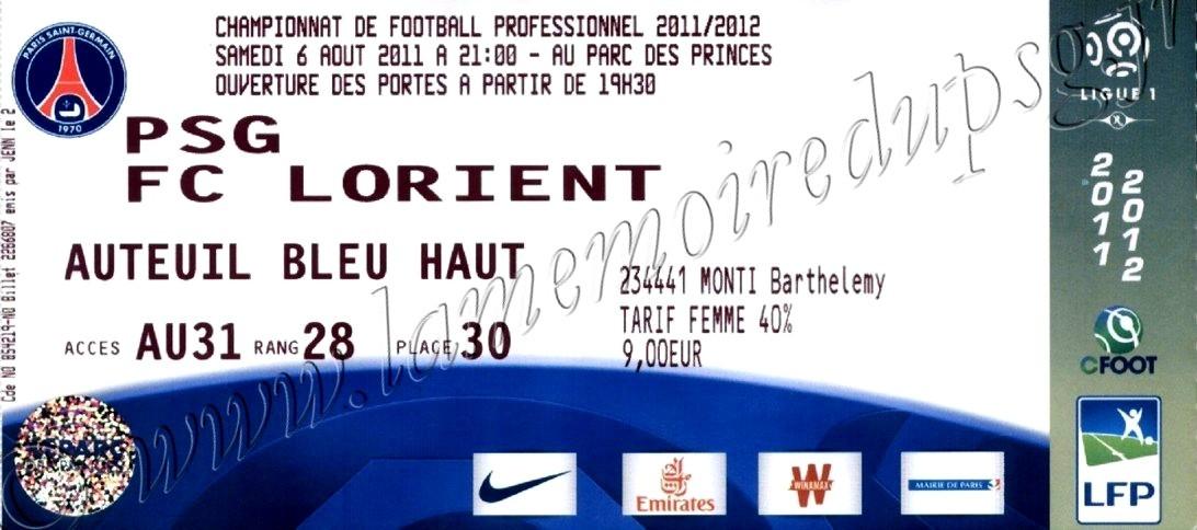 2011-08-06  PSG-Lorient (1ère L1)