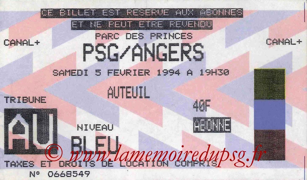 1994-02-05  PSG-Angers (25ème D1)