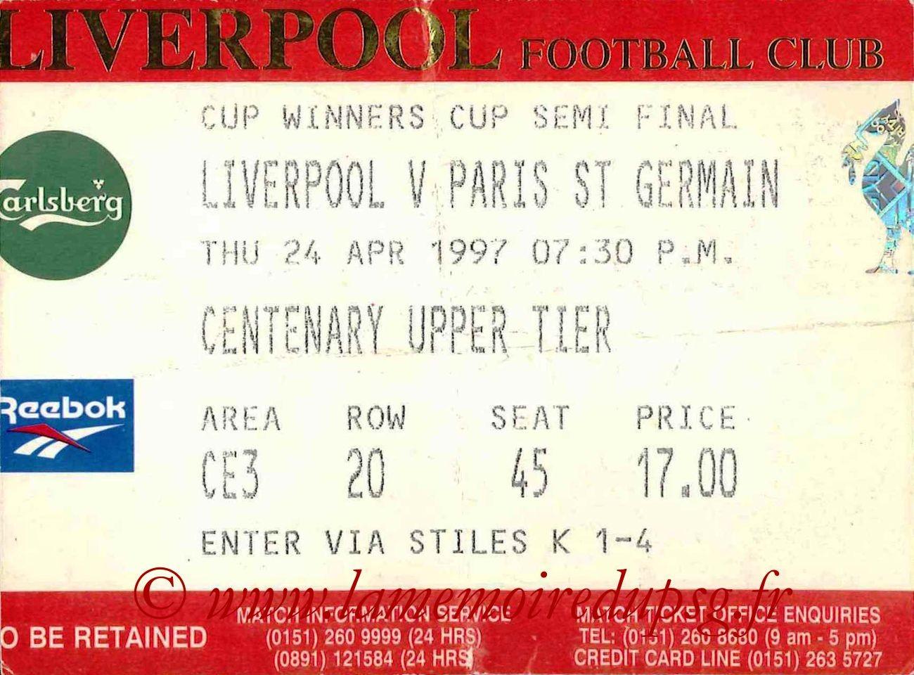 1997-04-24  Liverpool-PSG (Demi-Finale Retour C2)