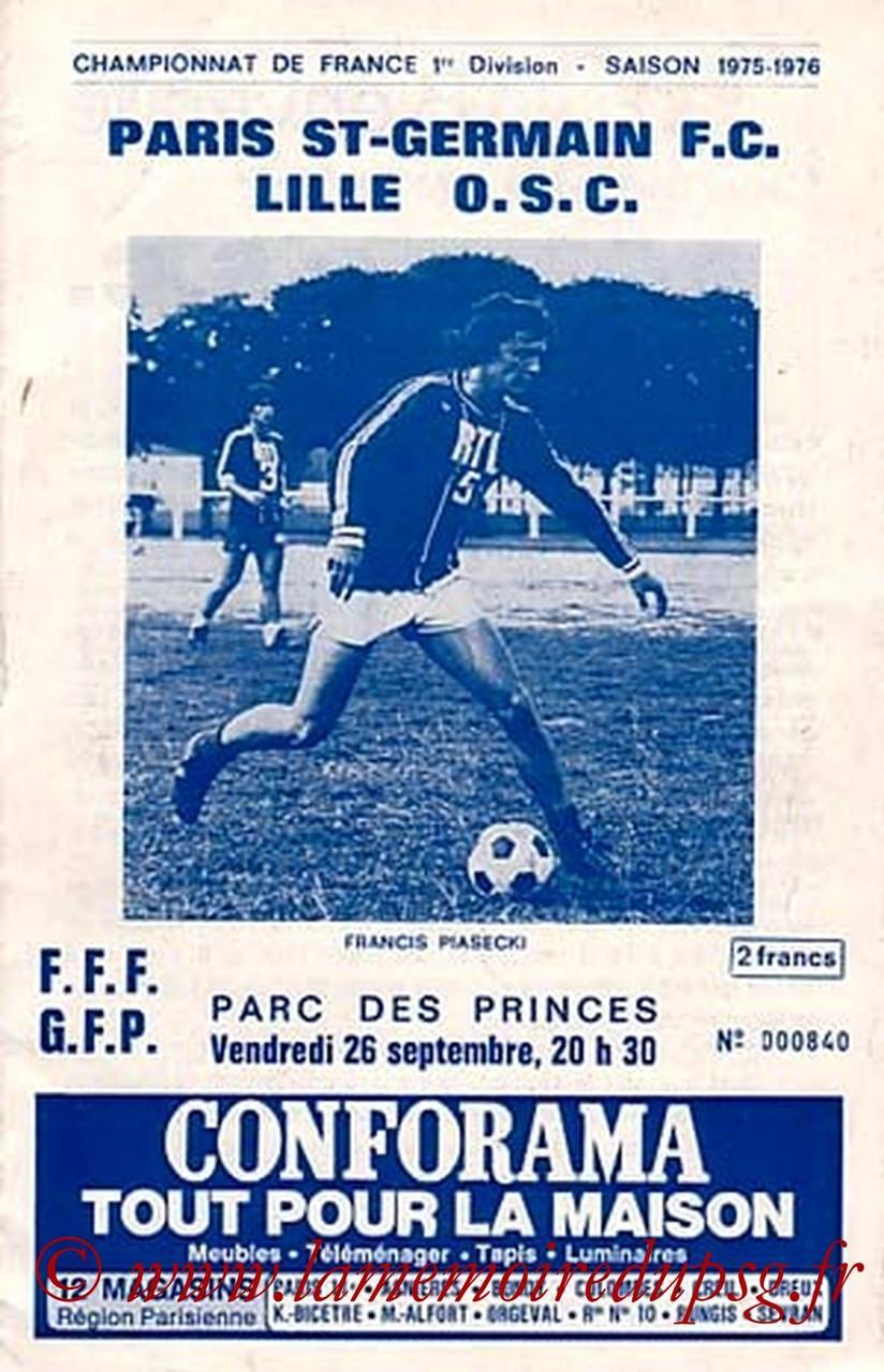 1975-09-26  PSG-Lille (8ème D1, Officiel PSG)