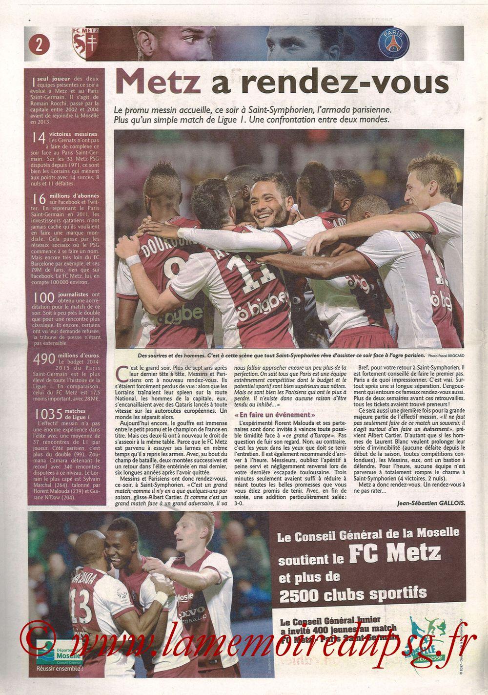 2014-11-21  Metz-PSG (16ème L1, Le Républicain Lorrain) - Page 02