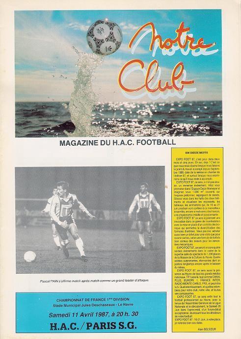 1987-04-11  Le Havre-PSG (31ème D1, Notre club)